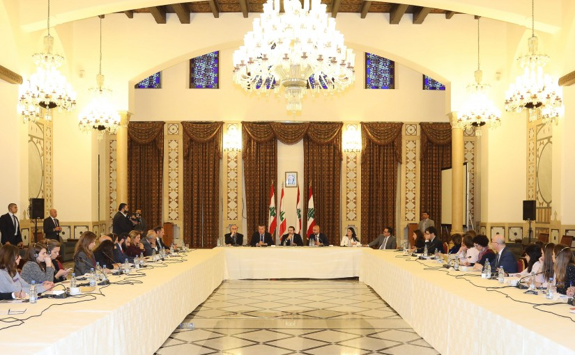 Pr Minister Saad Hariri meets a Delegation from Civil Society