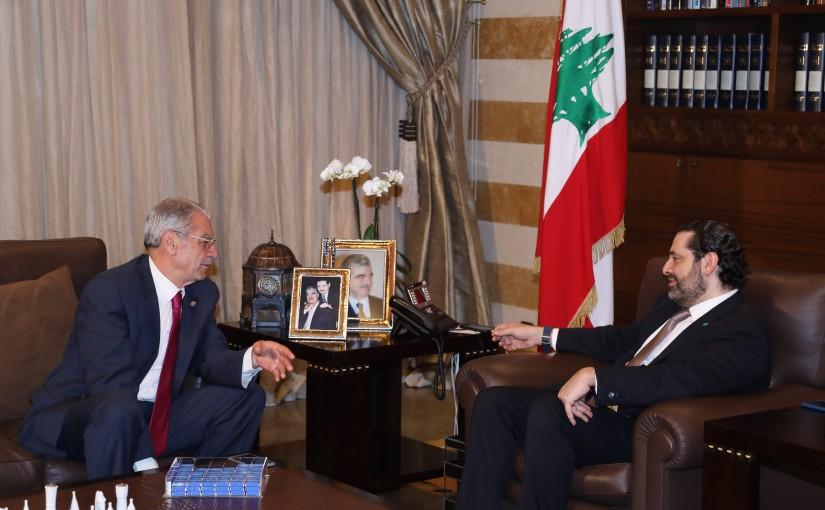 Pr Minister Saad Hariri meets Mr Moustapha Hachem