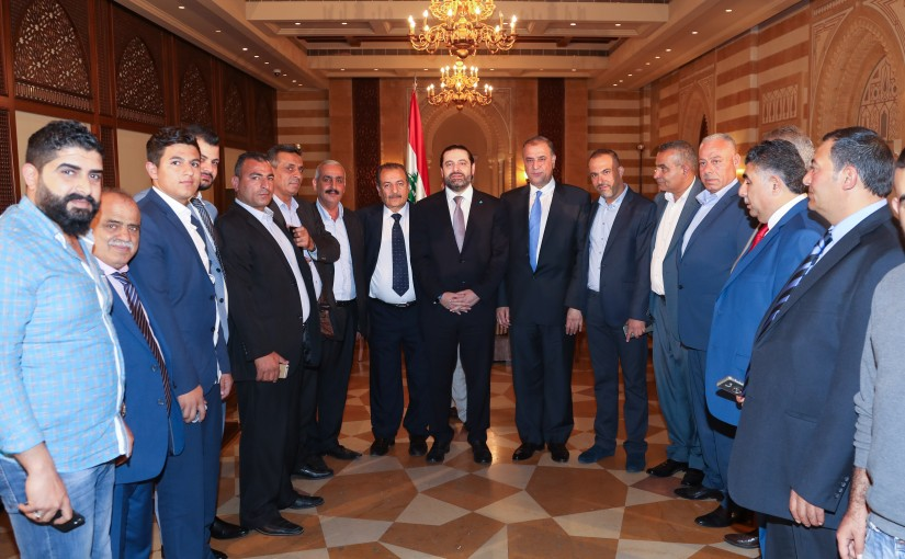 Pr Minister Saad Hariri meets Mr Khaled Daher with a Delegation