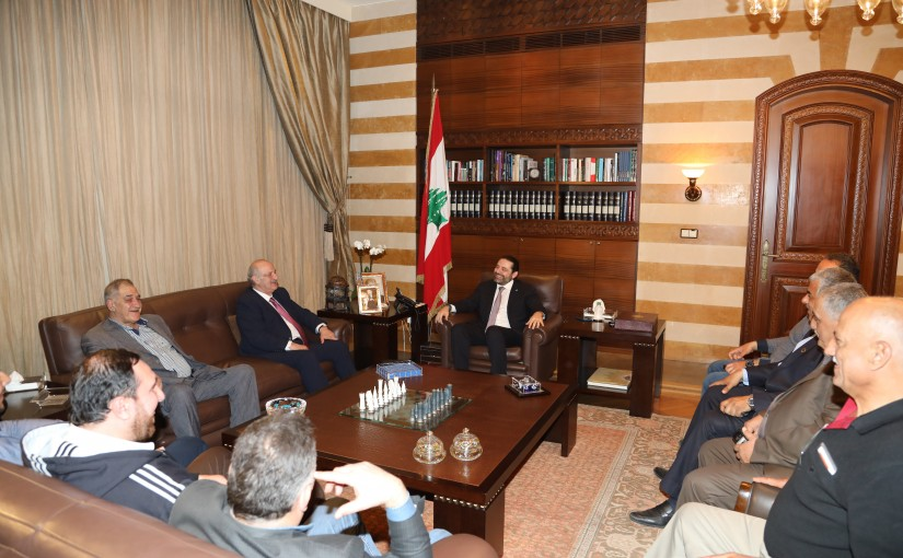 Pr Minister Saad Hariri meets MP Riyadh Rahal with a Delegation