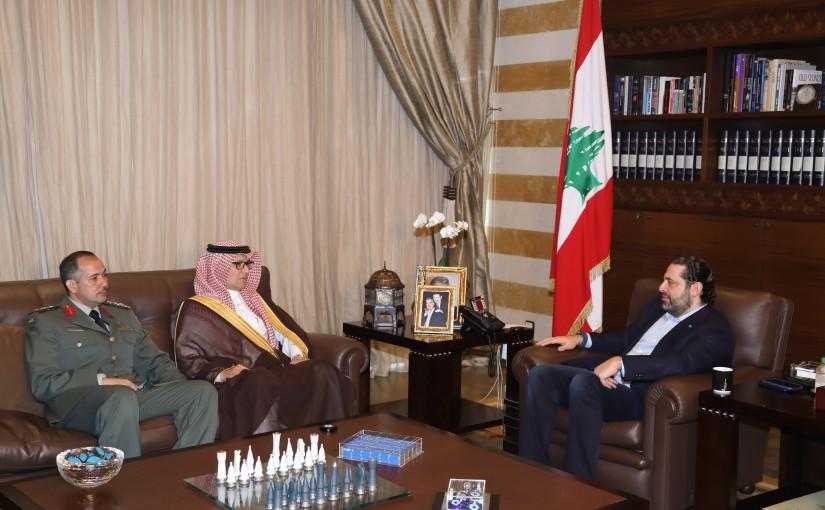 Pr Minister Saad Hariri meets Saudi Charger D affaires