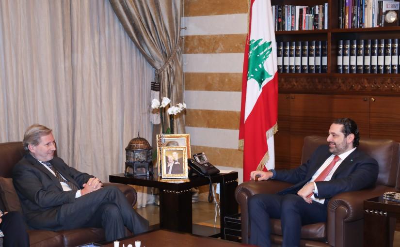 Pr Minister Saad Hariri meets Mr Johanes Han