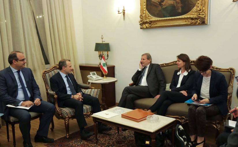 Minister Gebran Bassil meets Mr johanes han