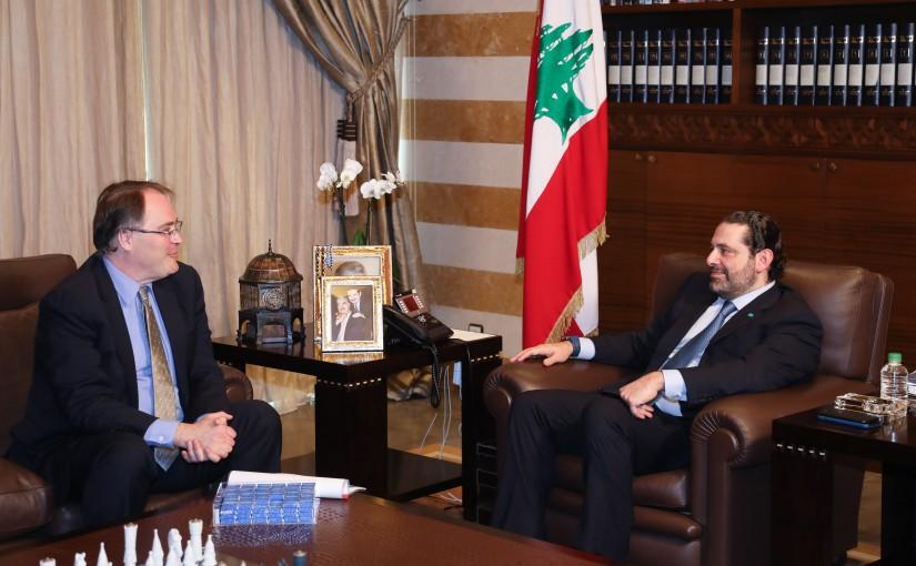 Pr Minister Saad Hariri meets Mr Daryl Mendes