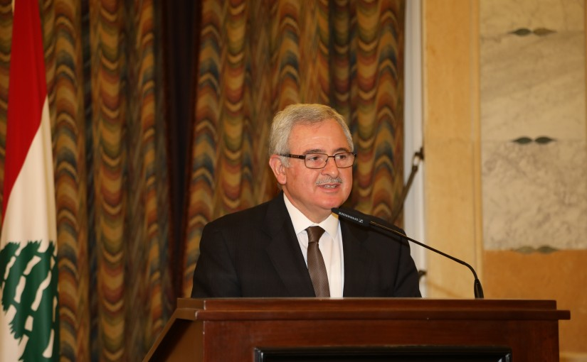 Minister Mouein Merhbi Attends a Conference at Grand Serial