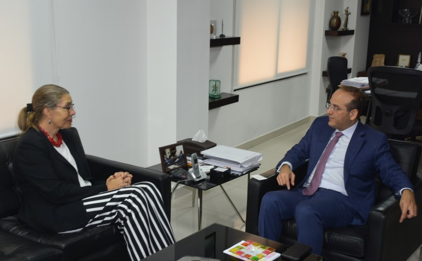 Minister Raed Khoury meets Mrs Bernel Cardel