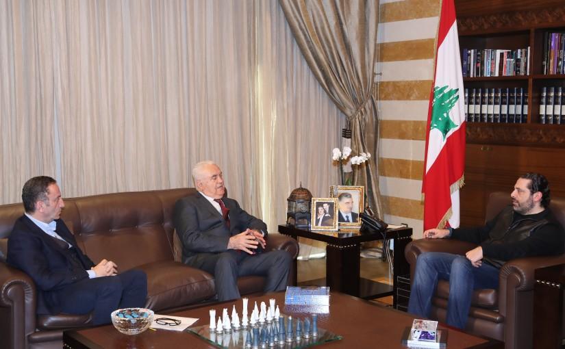 Pr Minister Saad Hariri meets Former MP Mounif el Khatib