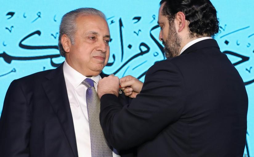 Pr Minister Saad Hariri meets Honors Mr Ahmad Barghout