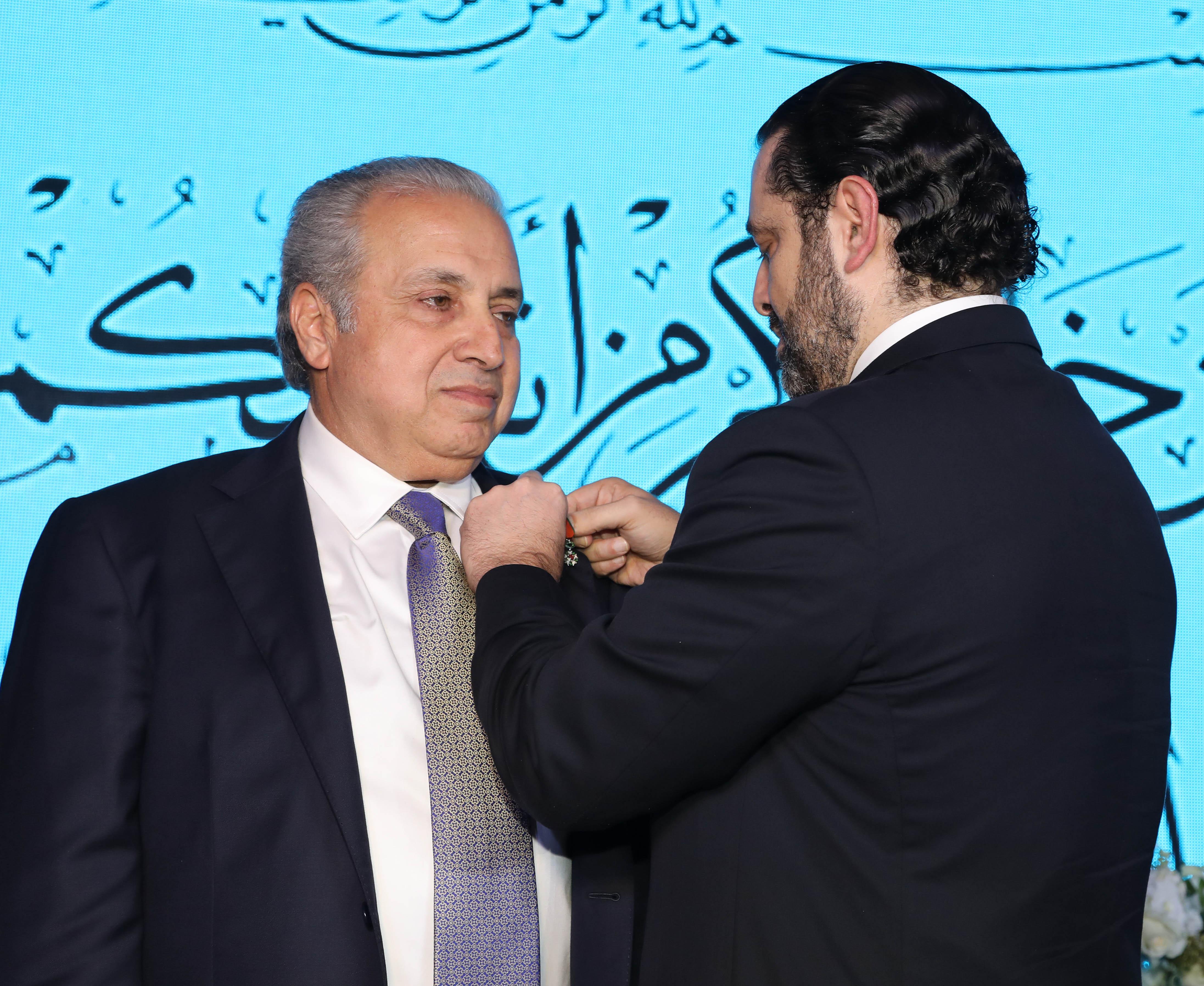 Pr Minister Saad Hariri Honors Mr Ahmad el Barghout 1