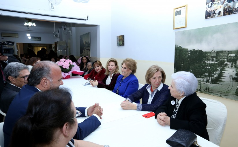 The first Lady Ms. Nadia Aoun Visits Resto Du Coeur on the occasion of Mother's Day.