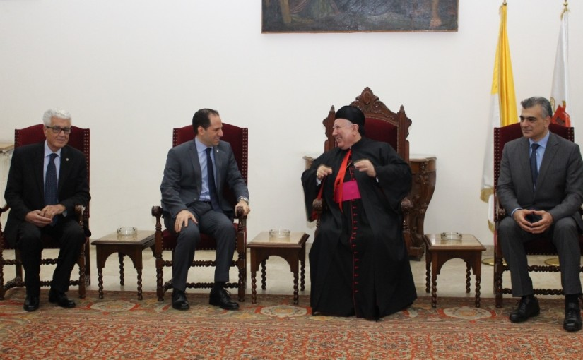 Bishop Boulos Matar Meets MP Sami Gemayel