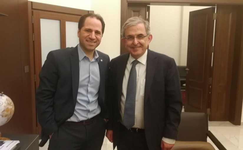 MP Sami Gemayel meets Mr Elie Ghariyoss