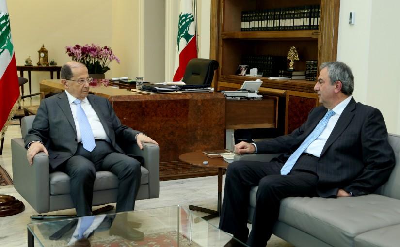 President Michel Aoun meets MP Farid Elias Al-Khazen
