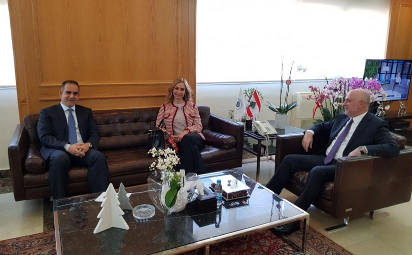 Minister Youssef Fenianos Meets Swiss Ambassador