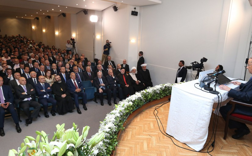 "President Michel Aoun inaugurates International Conference on ""Equality in Democracy"" Jbeil."
