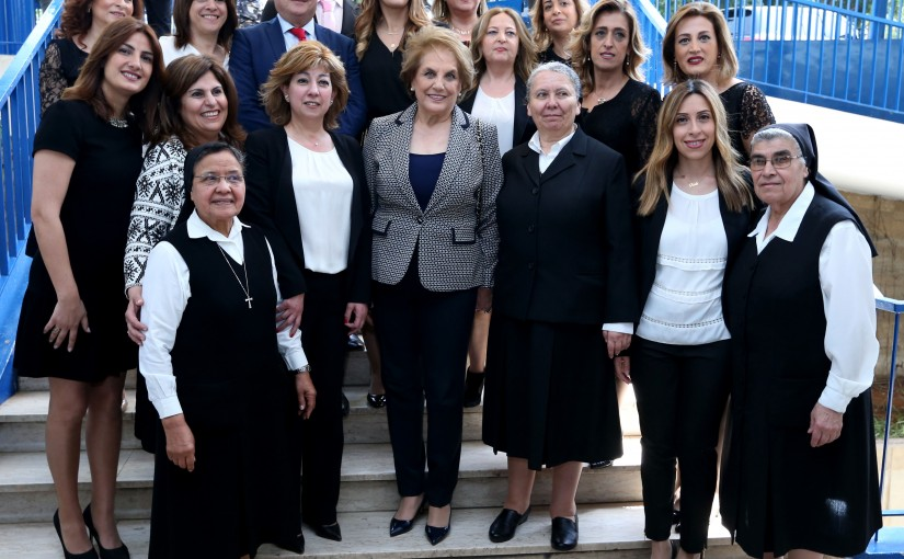 The first lady Ms.Nadia El-Chami Aoun opened the Antonine Center for diagnosis and treatment and stressed the importance of early detection of treatment and adjustment in life .
