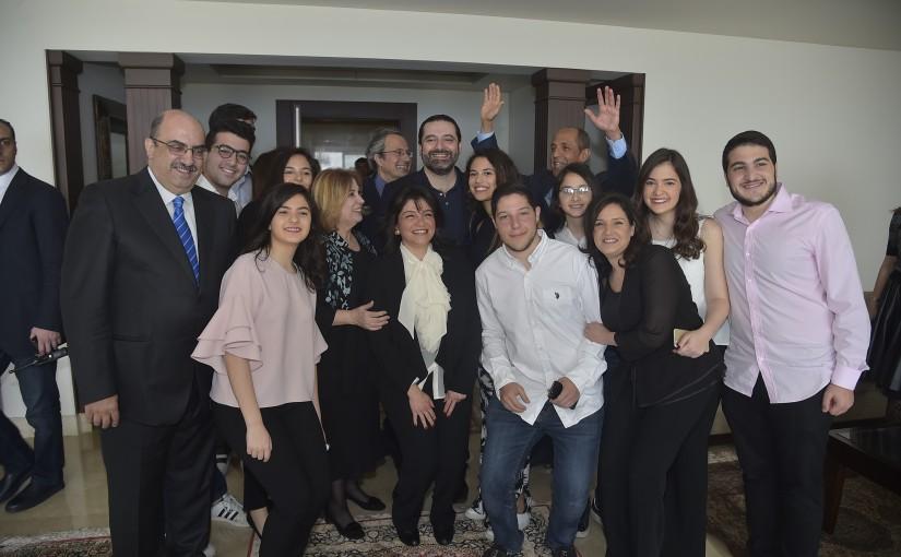 Pr Minister Saad Hariri Visits  he Family of Abdel Rahman Alayleh