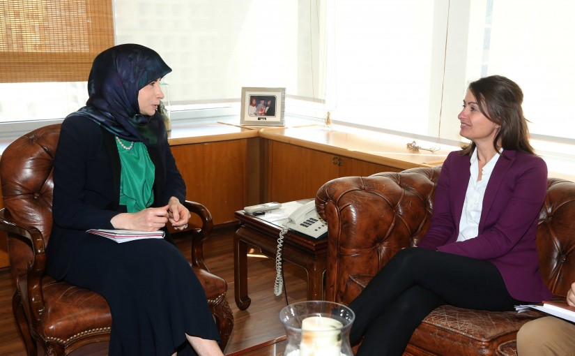 Minister Inaya Ezzedine meets European Ambassador