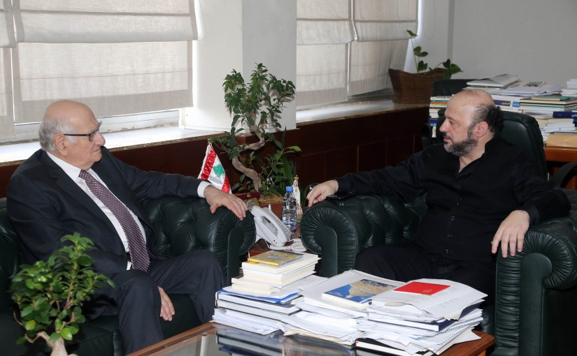 Minister Melhem Riachi meets Former Minister Ramzi Jreij