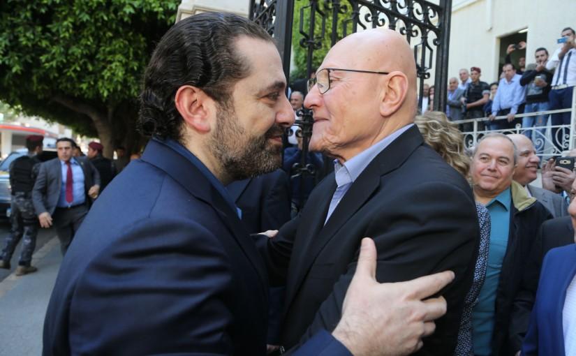Pr Minister Saad Hariri meets Former Pr Minister Tammam Salam