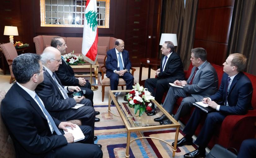 President Michel Aoun Meets Russia Deputy Foreign Minister Mikhail Bogdanov