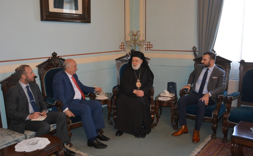 Bishop Elias Audi meets a Greek Delegation