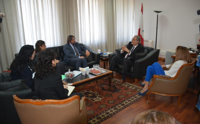 Minister Selim Jraysati meets an European Delegation