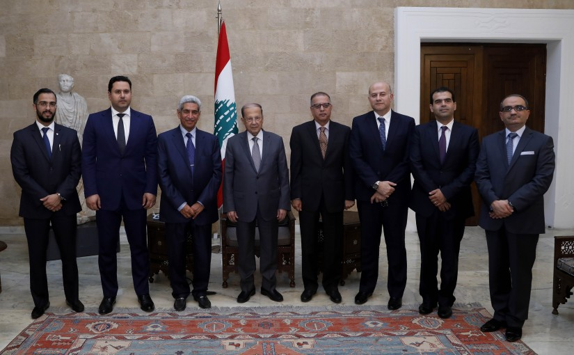 President Michel  Aoun received Kuwait's Minister of State for National Assembly Affairs Adel Musaed Al-Kharafi with a delegation.