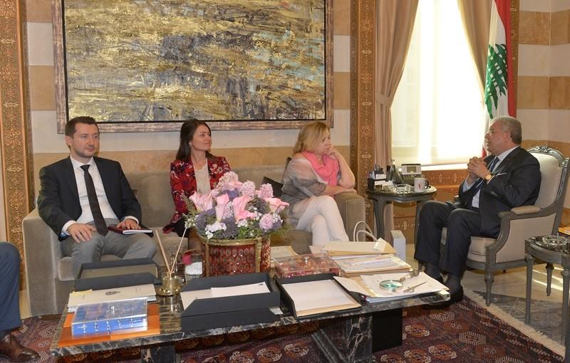 Minister Nouhad El Machnouk Meets European Mission For Election Observation