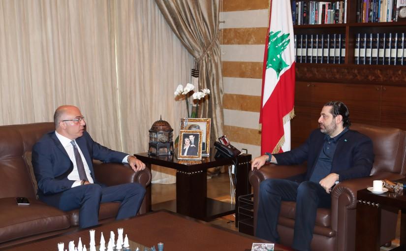 Pr Minister Saad Hariri meets Mr Fouad Dandan