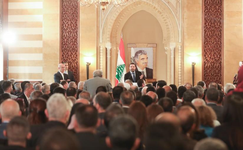 Pr Minister Saad Hariri meets a Delegation from el Arkoub