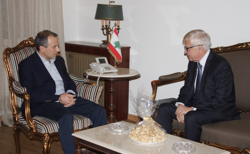 Minister Gebran Bassil meets Russian Ambassador