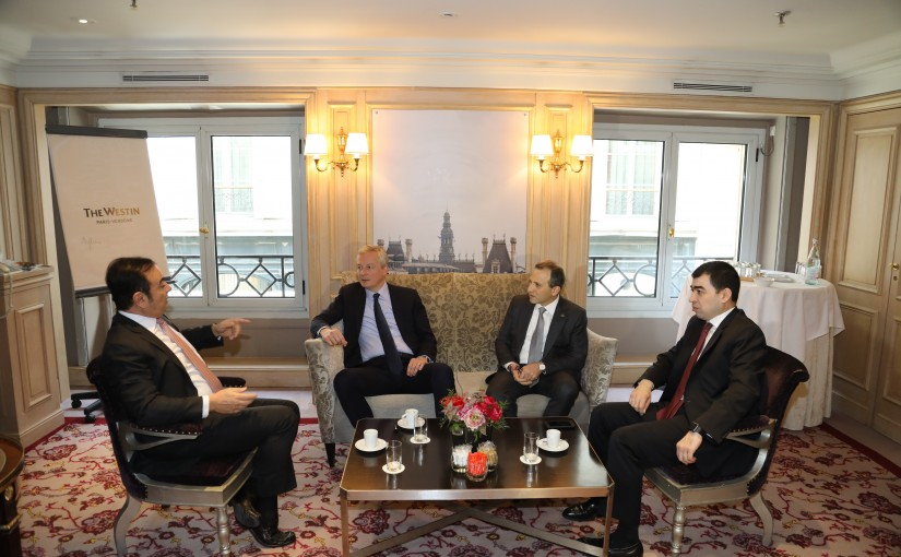 Minister Gebran Bassil meets Mr Carlos Ghossen with a Delegation