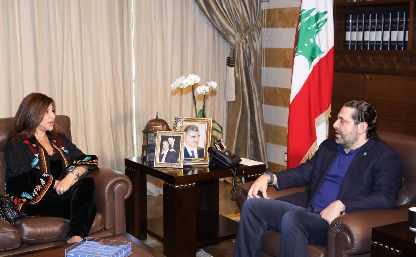 Pr Minister Saad Hariri meets Mrs Najwa Karam