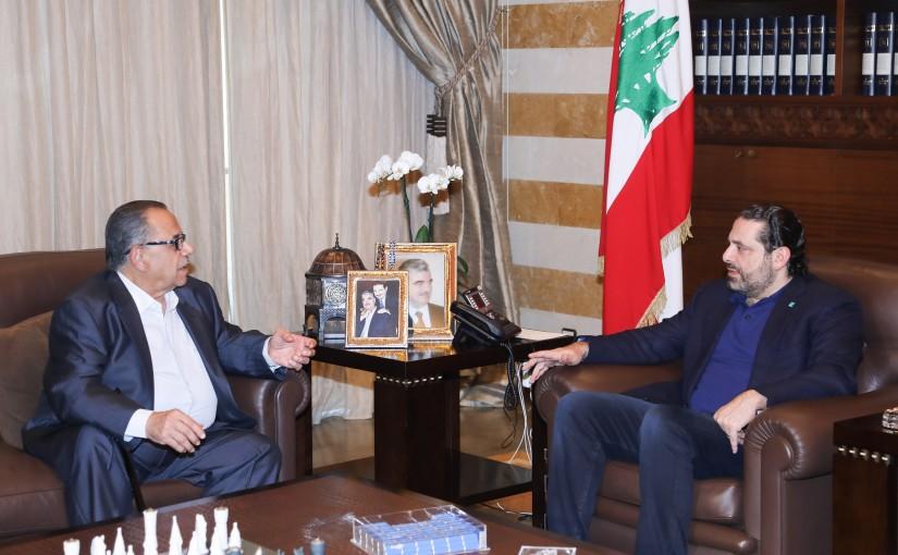 Pr Minister Saad Hariri meets Mr Samih el Masri