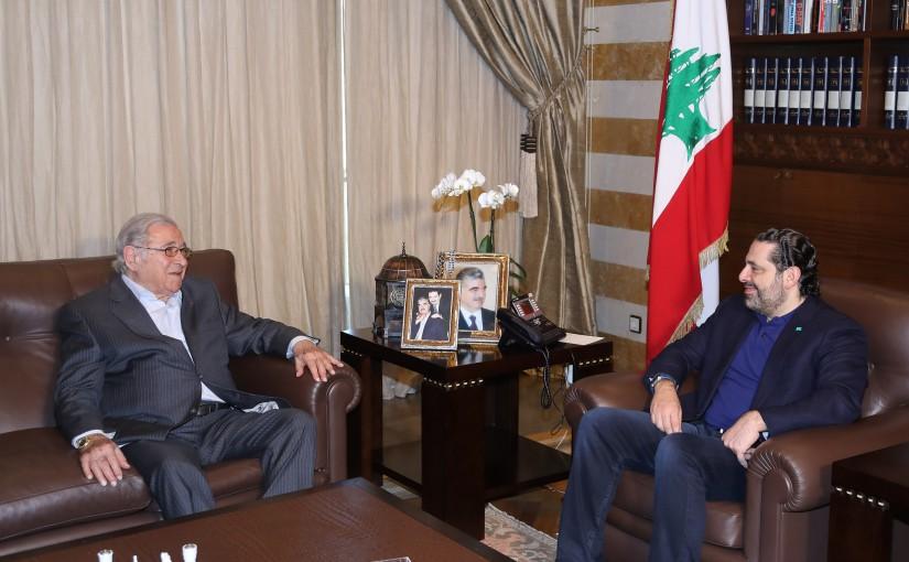 Pr Minister Saad Hariri meets Mr Mehidine el Natour