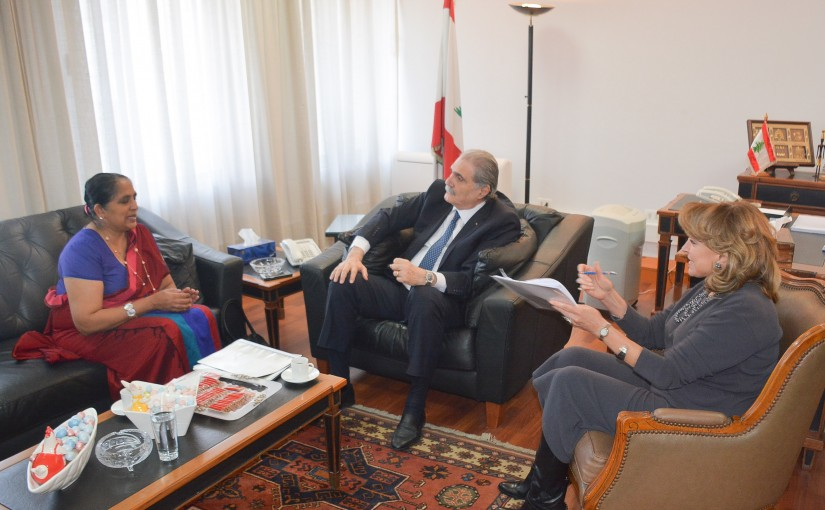 Minister Selim Jraysati meets Srilanka Ambassador