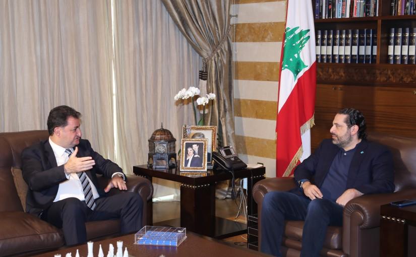 Pr Minister Saad Hariri meets Mr Tony Tohme