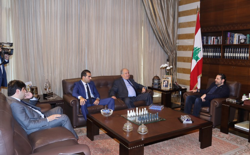 Pr Minister Saad Hariri meets Mr Massoud Houjeiri