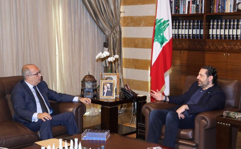 Pr Minister Saad Hariri meets Mr Marwan Salam