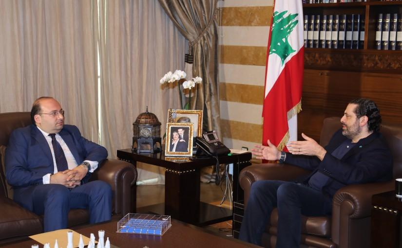 Pr Minister Saad Hariri meets Mr Omar Mourad