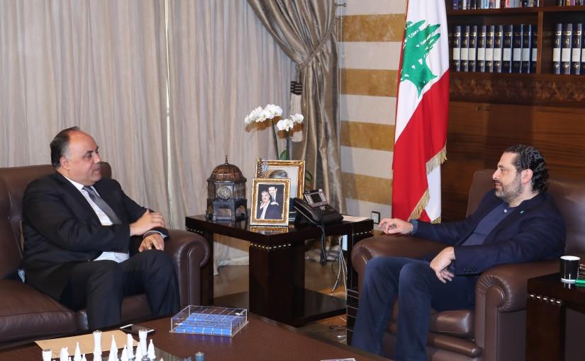 Pr Minister Saad Hariri meets Mr Khaled Sobeh