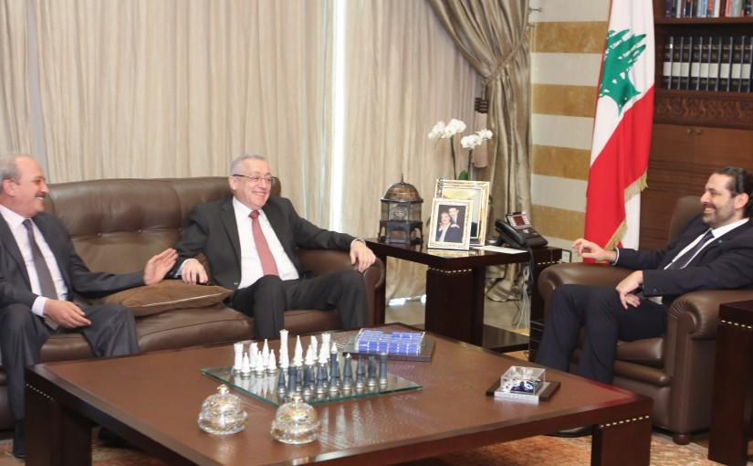 Pr Minister Saad Hariri meets MP Ahmad Fatfat