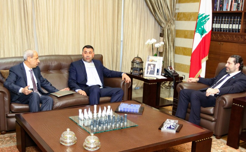 Pr Minister Saad Hariri meets Mr Outhman Alam el Dine