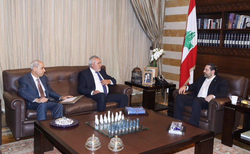 Pr Minister Saad Hariri meets Head of Municipality of Deir Oumar