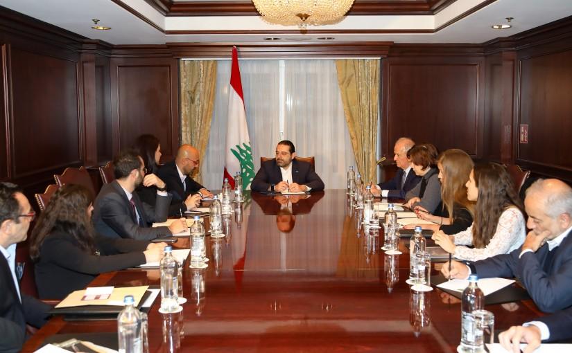 Pr Minister Saad Hariri meets a Delegation From NGO