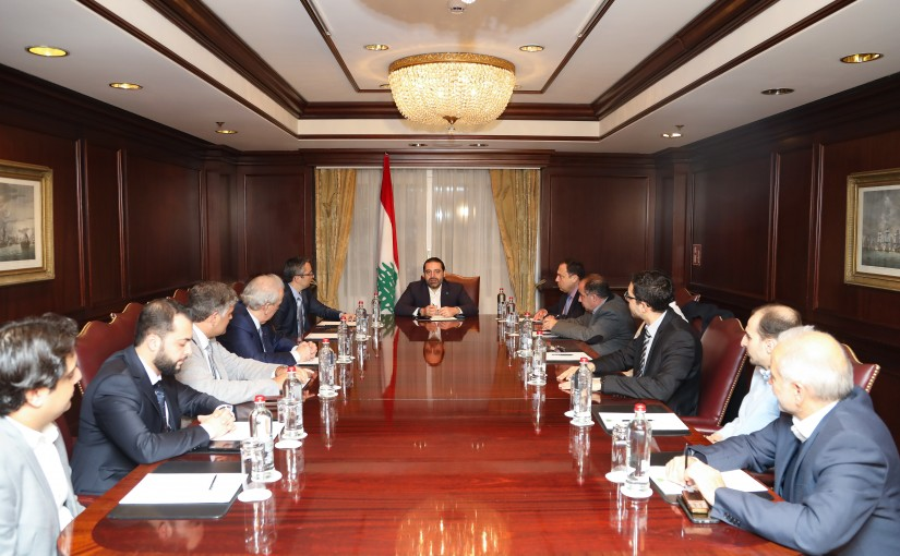 Pr Minister Saad Hariri meets a Delegation From Almustaqbal Party