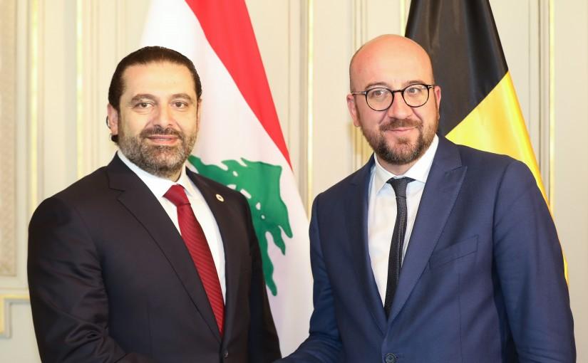 Pr Minister Saad Hariri meets Belgium Pr Minister