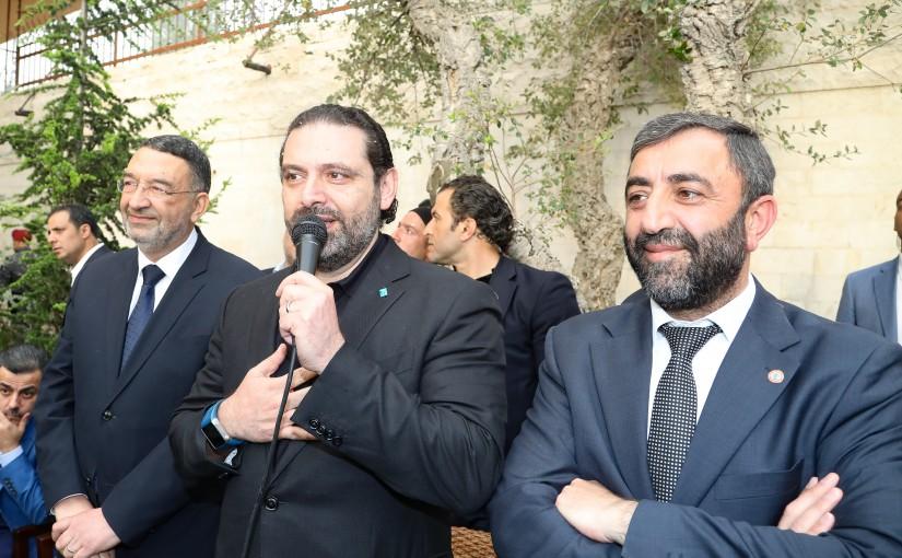 Pr Minister Saad Hariri Visits Mr Assad Harmouch