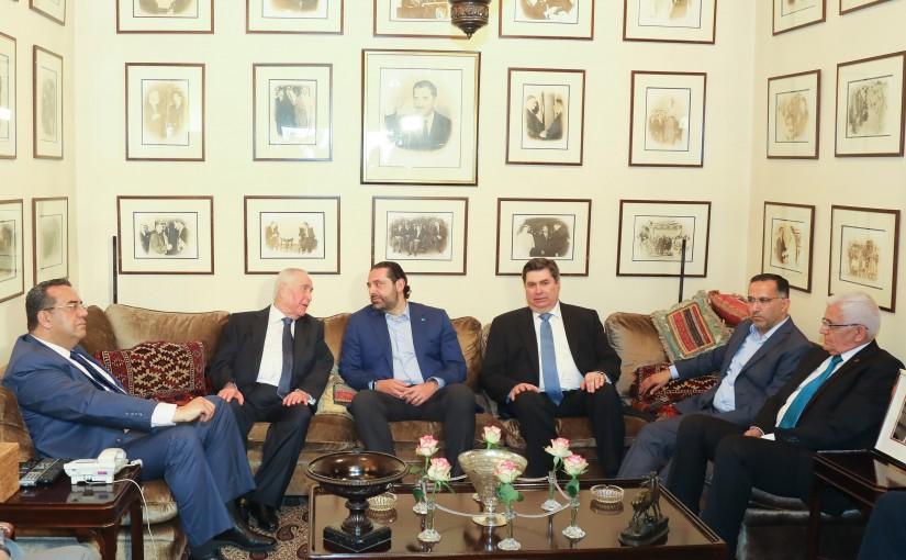 Pr Minister Saad Hariri Visits Mr Mouin Karame